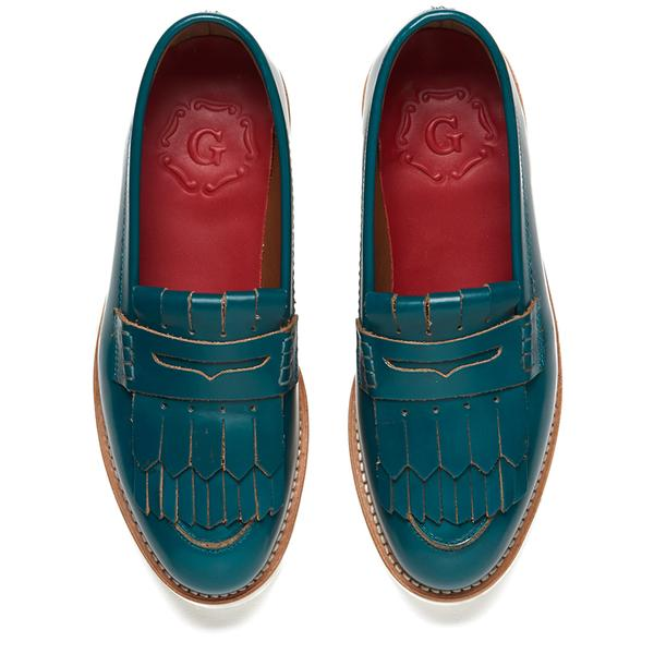 9f1aa157c48 Grenson Women s Juno Leather Frill Loafers in Blue - Lyst