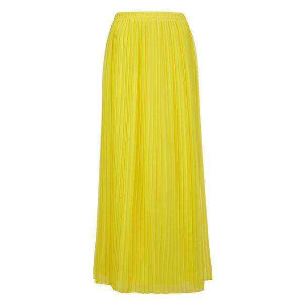 orange s beflowy pleated maxi skirt in yellow