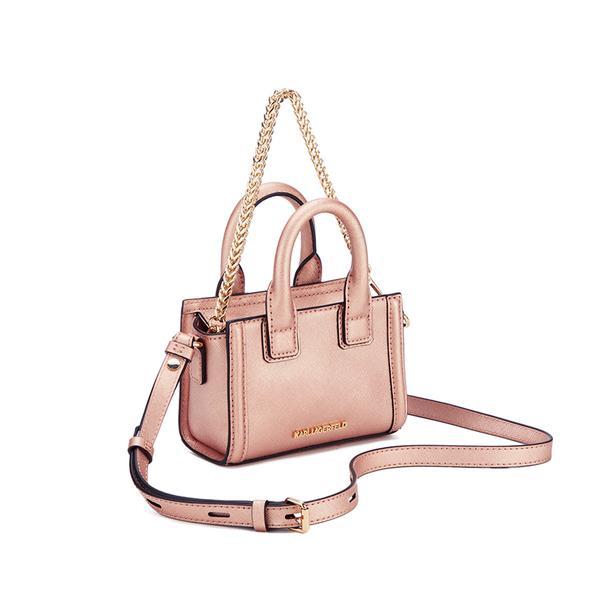 Karl Lagerfeld Leather Women's K/klassik Micro Tote Bag