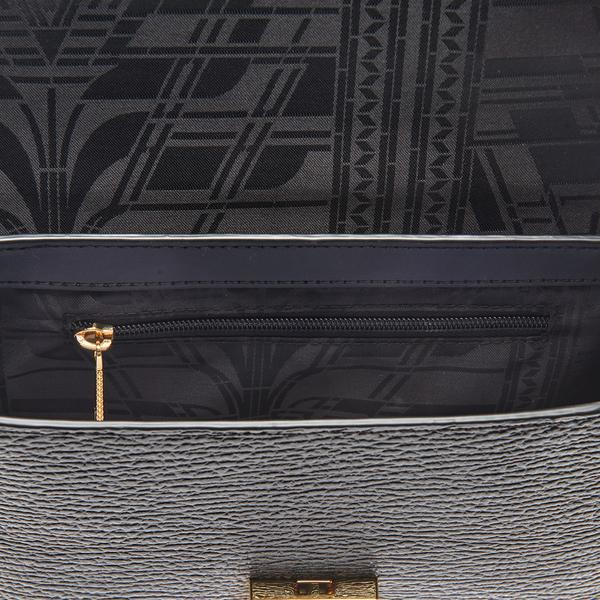 Ted Baker Leather Beckaa Luggage Lock Detail Cross Body Bag in Black