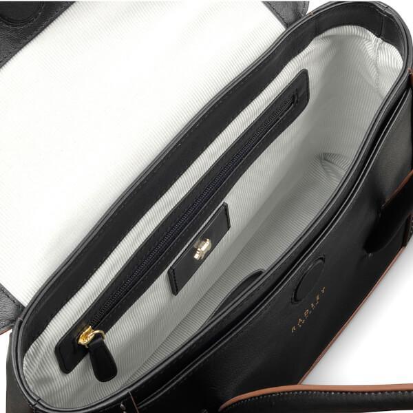 Radley Leather Women's Boundaries Medium Flapover Tote Bag in Black