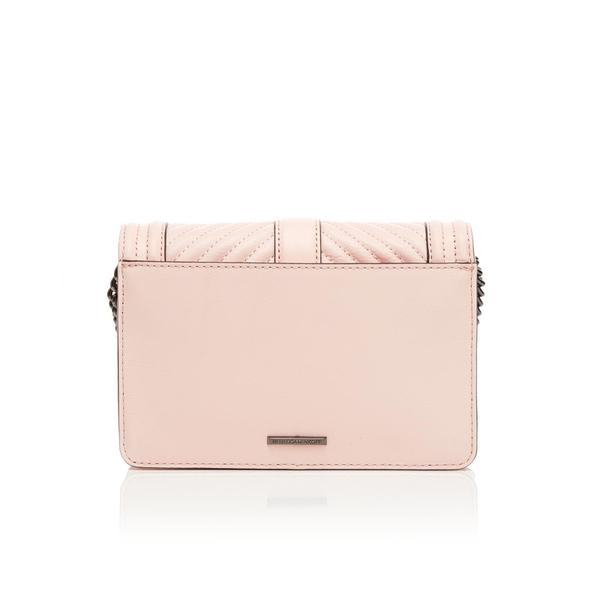 Rebecca Minkoff Leather Women's Chevron Quilted Small Love Cross Body Bag in Blush (Pink)