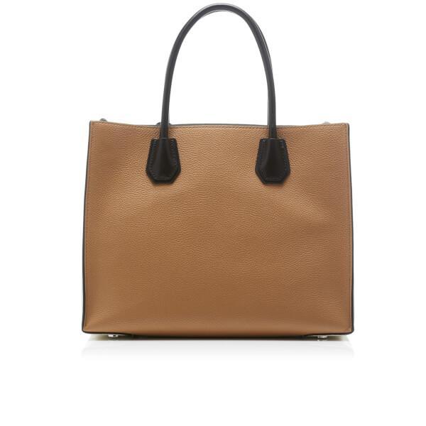 MICHAEL Michael Kors Leather Women's Mercer Large Convertible Tote Bag in Black