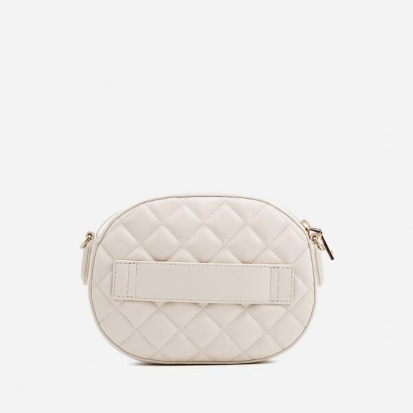 Love Moschino Women's Quilted Round Small Cross Body Bag in Ivory (White)