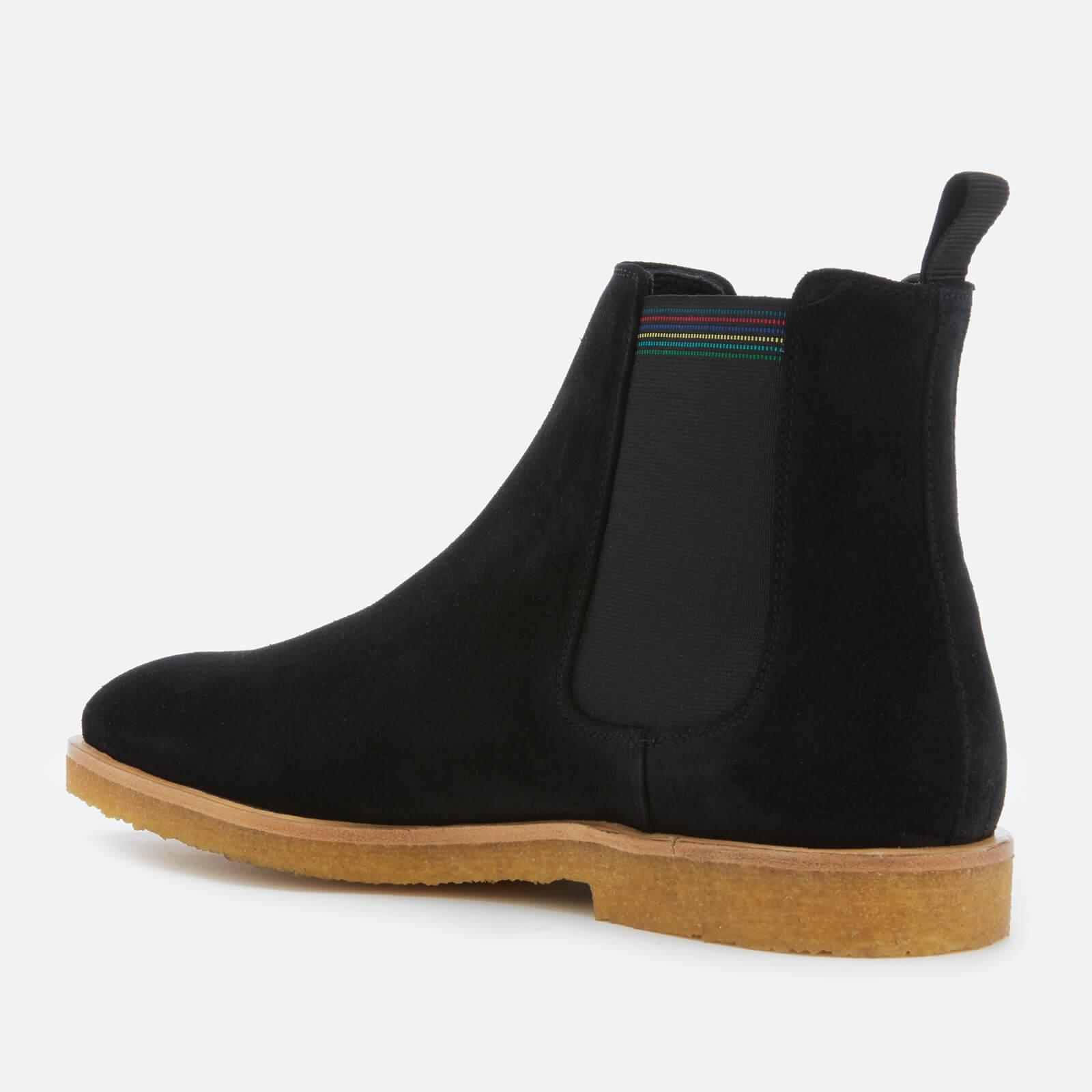 606209b4651 PS by Paul Smith - Black Andy Suede Crepe Sole Chelsea Boots for Men - Lyst.  View fullscreen