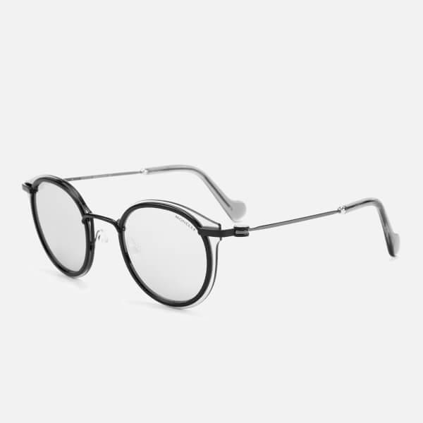 Moncler Men's Oval Sunglasses in Black for Men