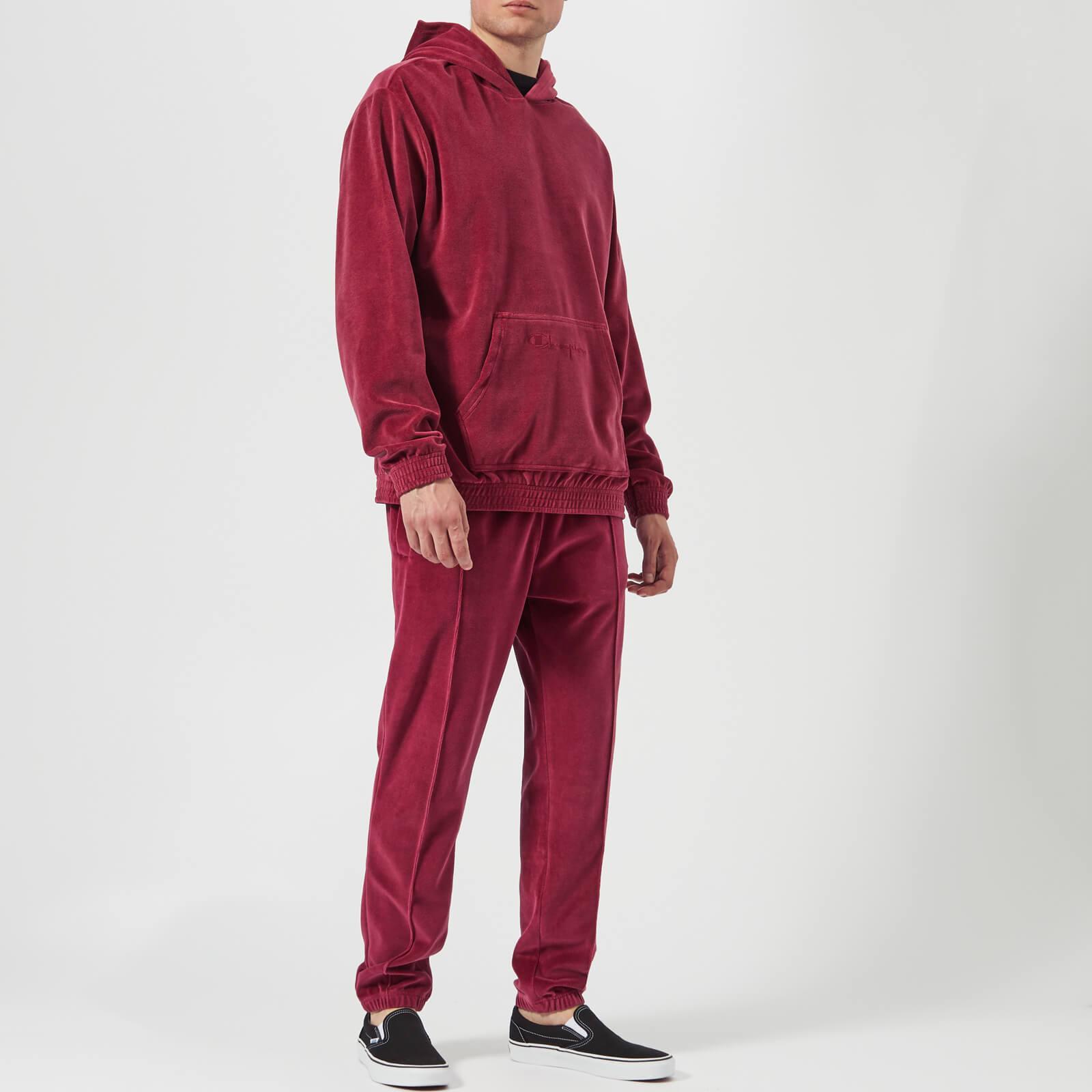 Men's Red Velour Track Pants