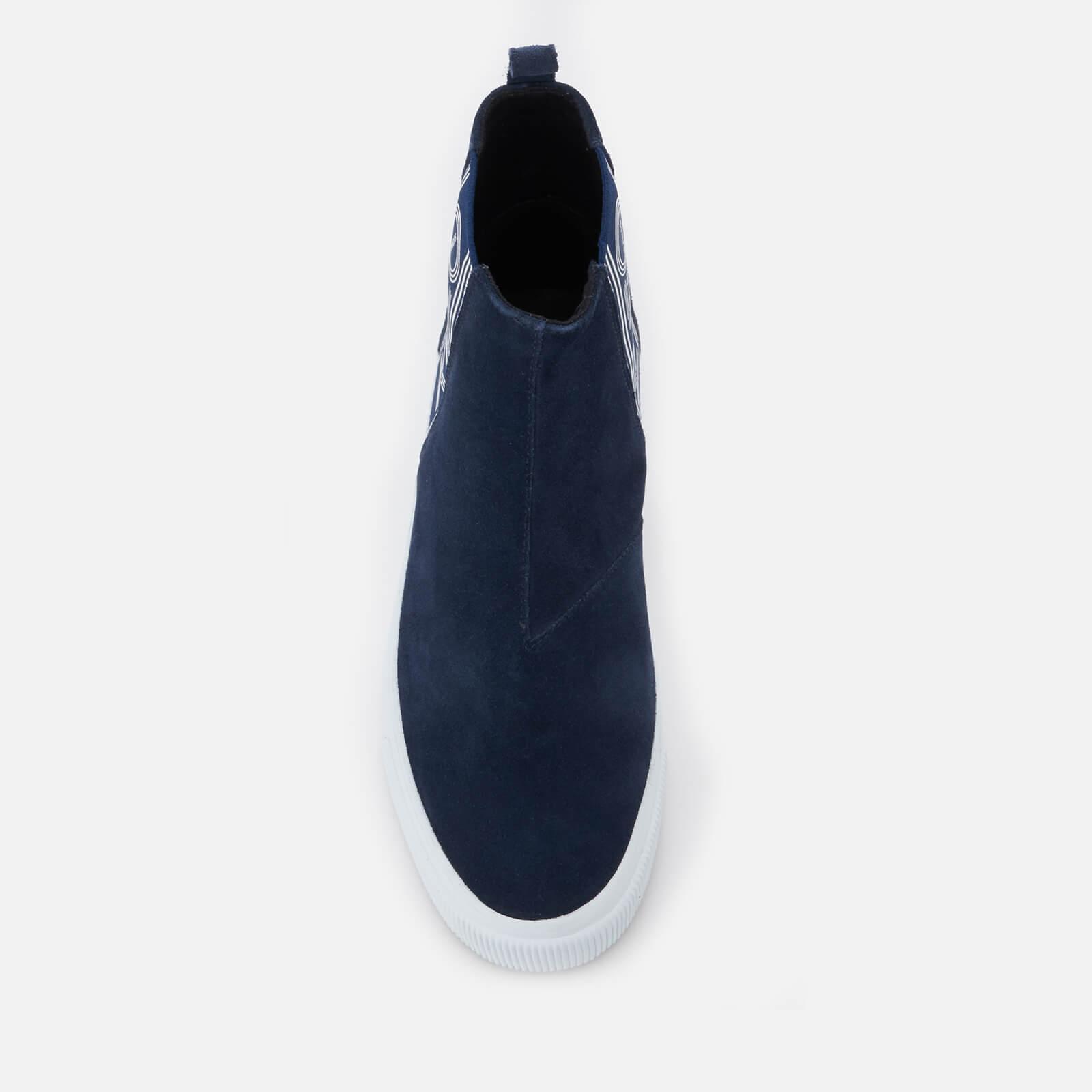 f87b9863 Men's Blue Kapri Suede High Top Sneakers
