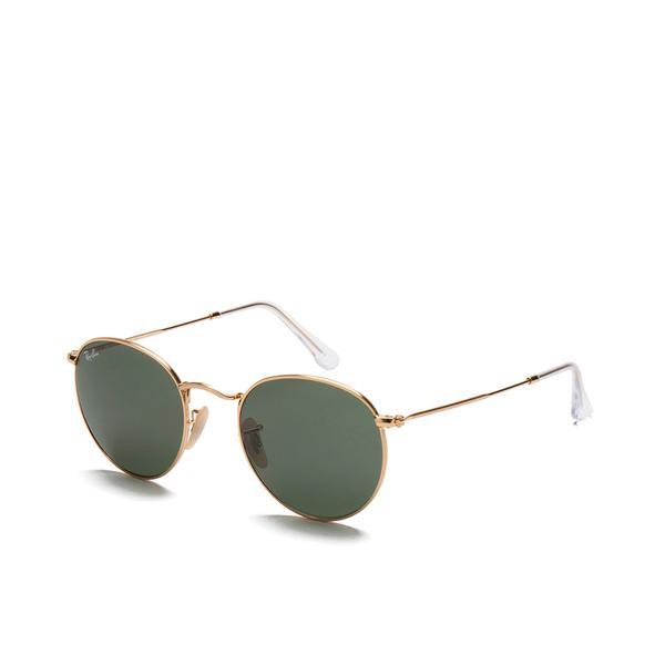 Ray-Ban Rayban Round Metal Sunglasses Arista/crystal Green for Men