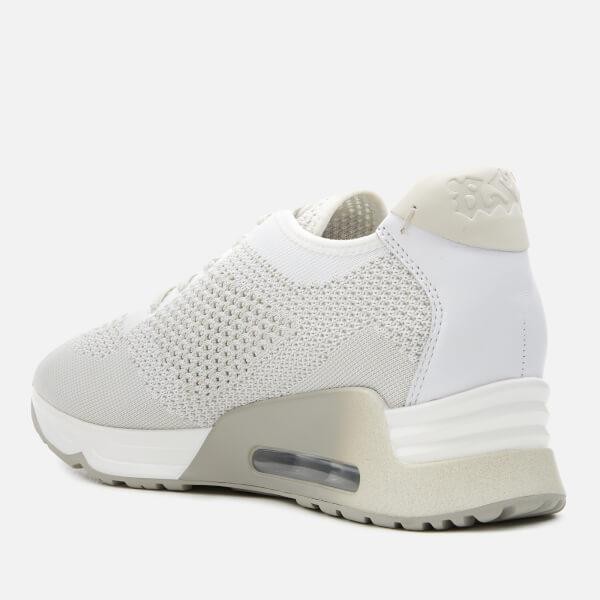 Ash Leather Women's Lucky Knitted Runner Trainers in White