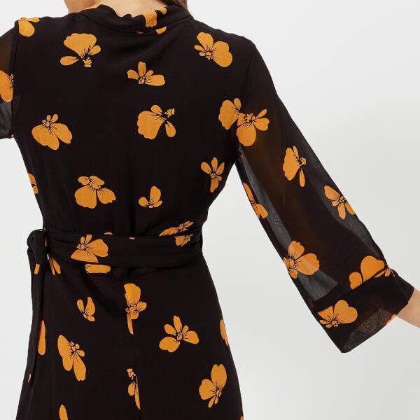 4760c9aeea5 Ganni Women s Fairfax Georgette Dress in Black - Lyst