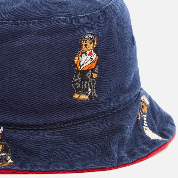 73343b159 Polo Ralph Lauren Men s Cotton Chino Bear Bucket Hat in Blue for Men ...