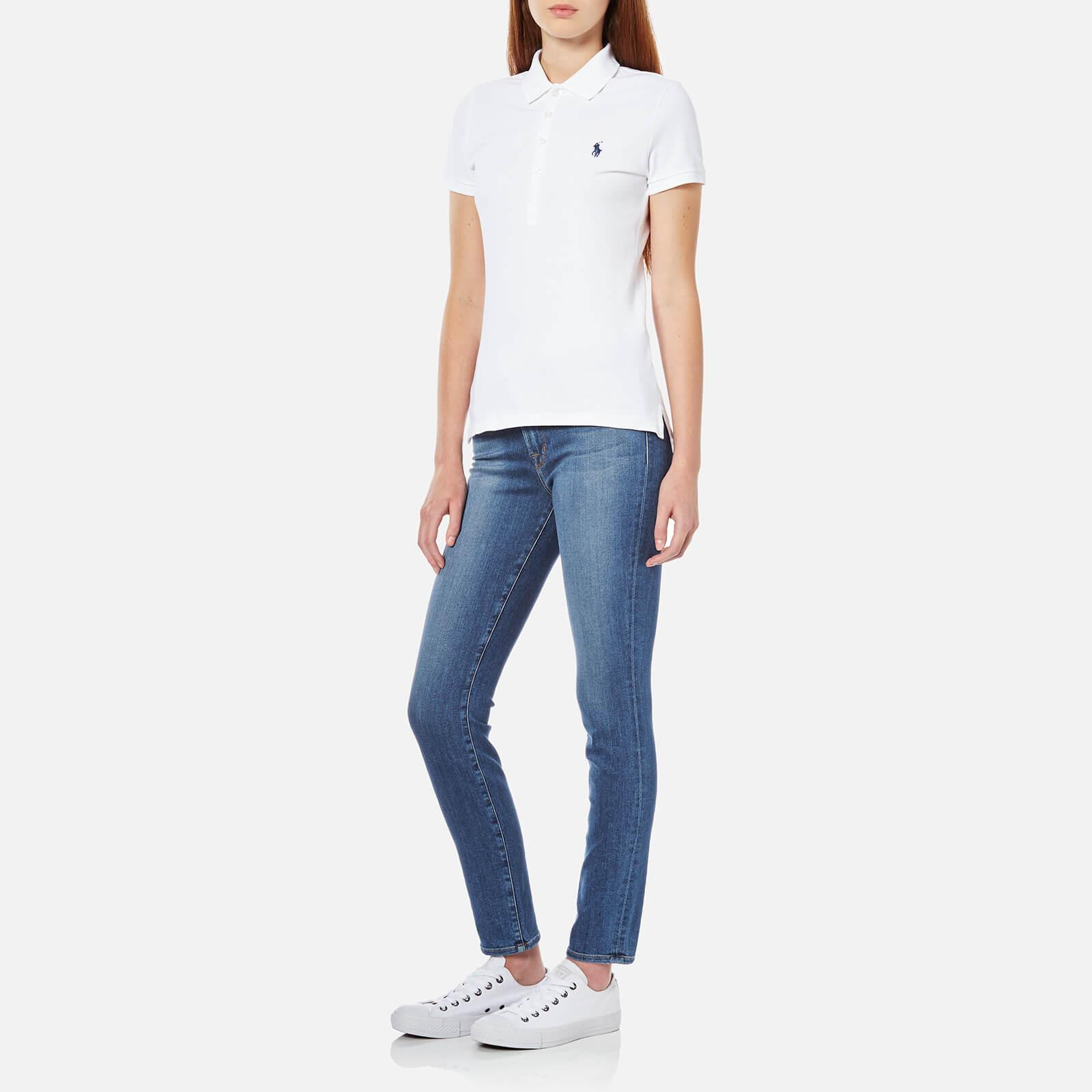 78adc13fc24f Polo Ralph Lauren Julie Polo Shirt in White - Lyst