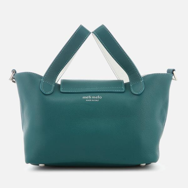 meli melo Leather Women's Thela Mini Tote Bag in Green
