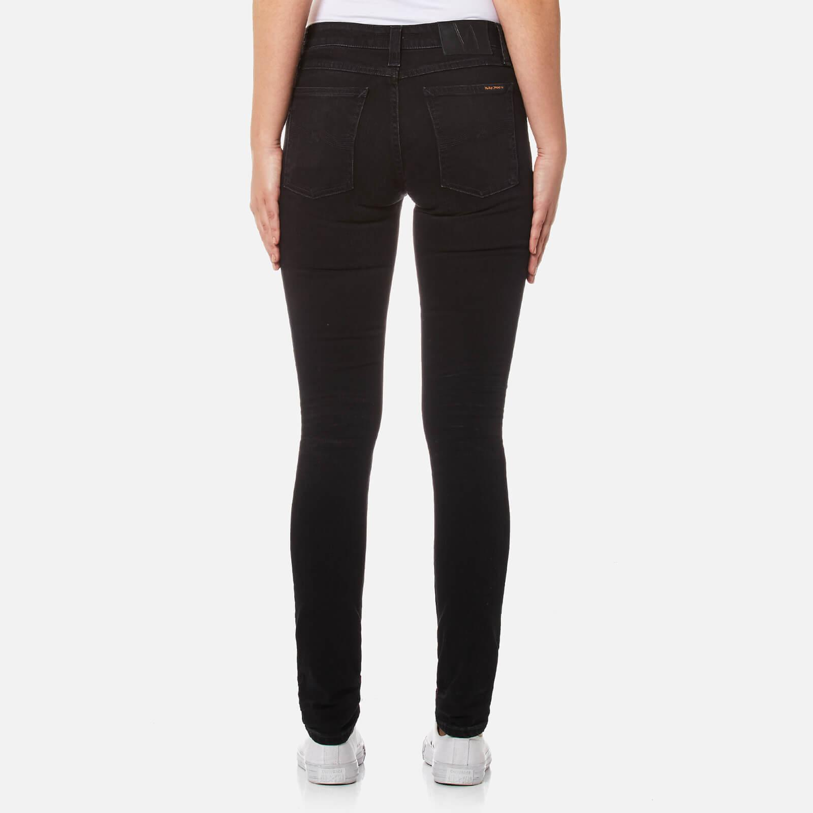 Nudie Jeans Denim Skinny Lin Jeans in Black