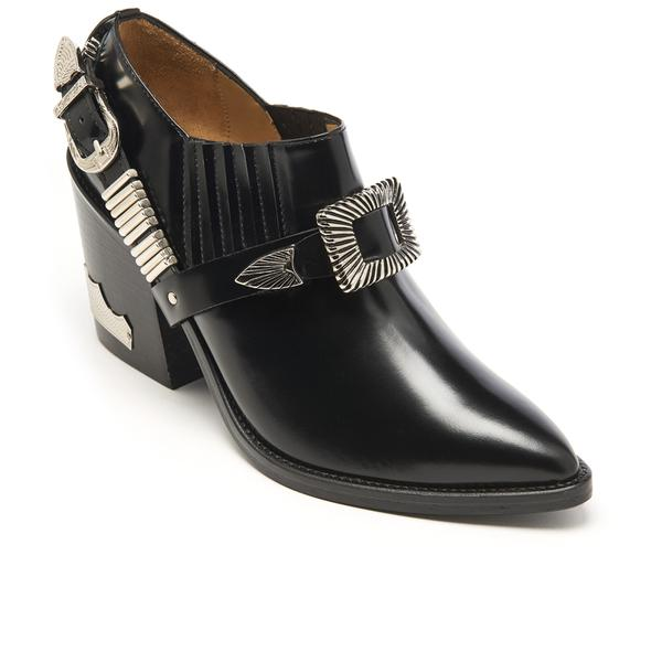 Toga Women's Leather Heeled Shoe Boots in Black