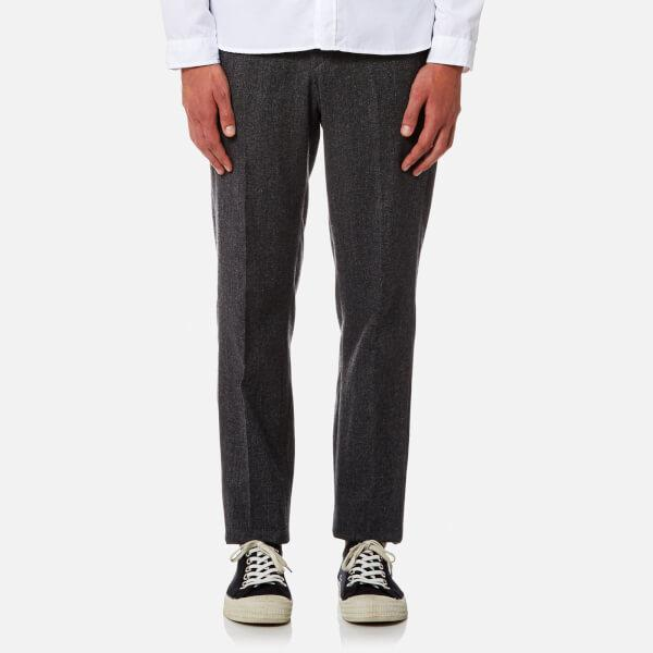 These traditional trousers are cut using authentic patterns and are made from a range of subtle cotton stripes or textures which are only available in short production runs. They are finished with a strap and buckle at the back along with braces buttons.