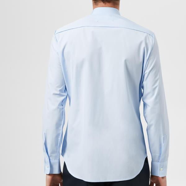 0e2ea9a6c34 Maison Margiela - Blue Men s Cotton Popeline Slim Fit Seam Shirt for Men -  Lyst. View fullscreen