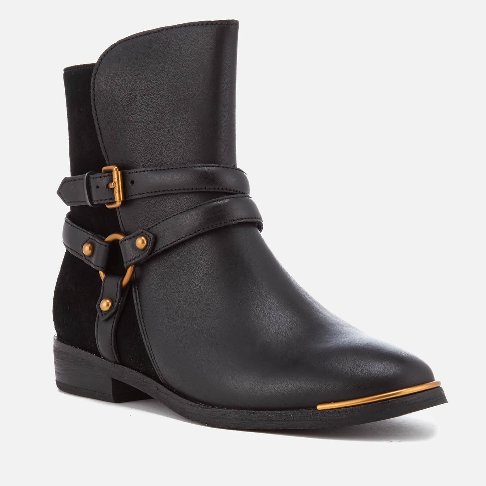 458a713cef2 Ugg Black Kelby Leather Ankle Boots