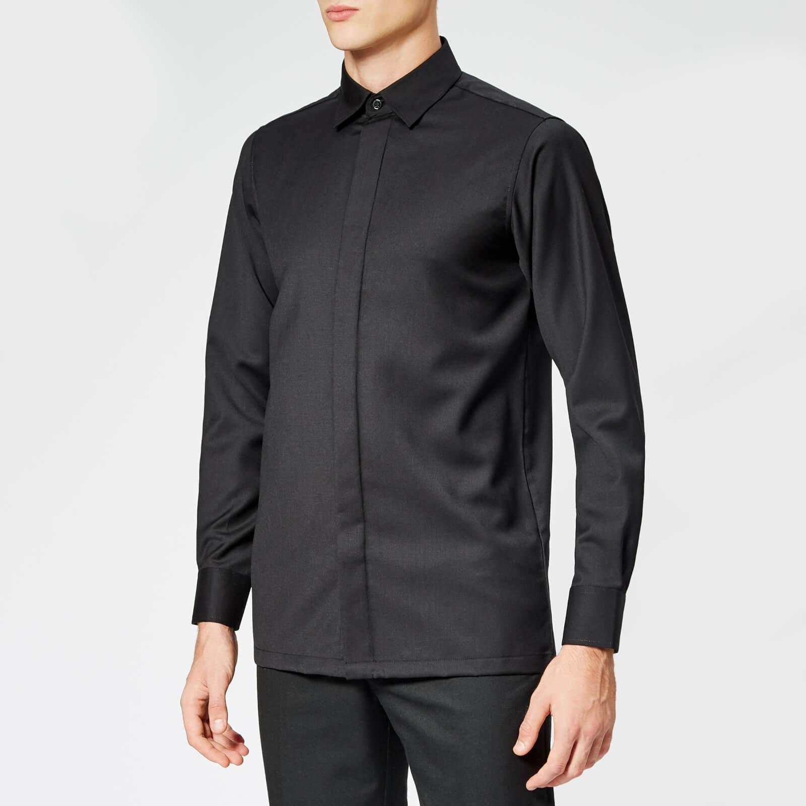 Matthew Miller Cahir Merino Wool Shirt in Black for Men - Lyst