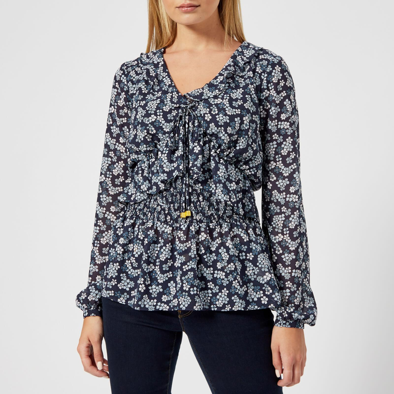 a4703c8180c13 Lyst - MICHAEL Michael Kors Cherry Blossom Top in Blue