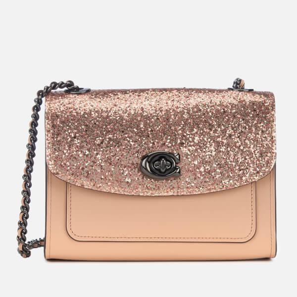 22d082f6486d Coach Women s Glitter Blocked Parker 18 Shoulder Bag in Natural ...