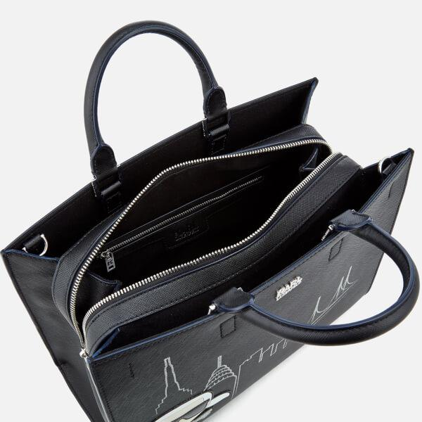 Karl Lagerfeld Leather Women's Nyc Tote Bag in Black
