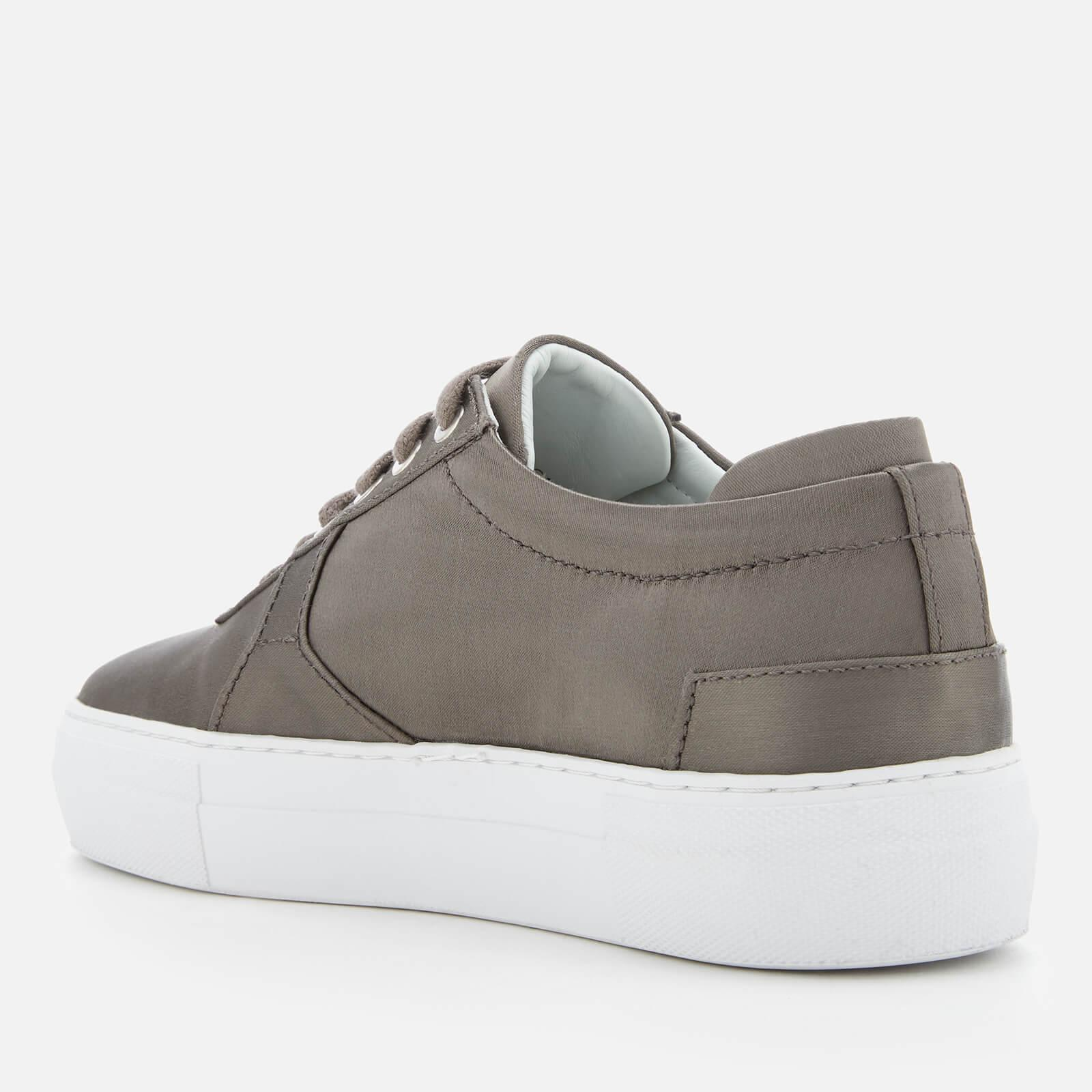 Axel Arigato Platform Satin Trainers in Grey (Grey)