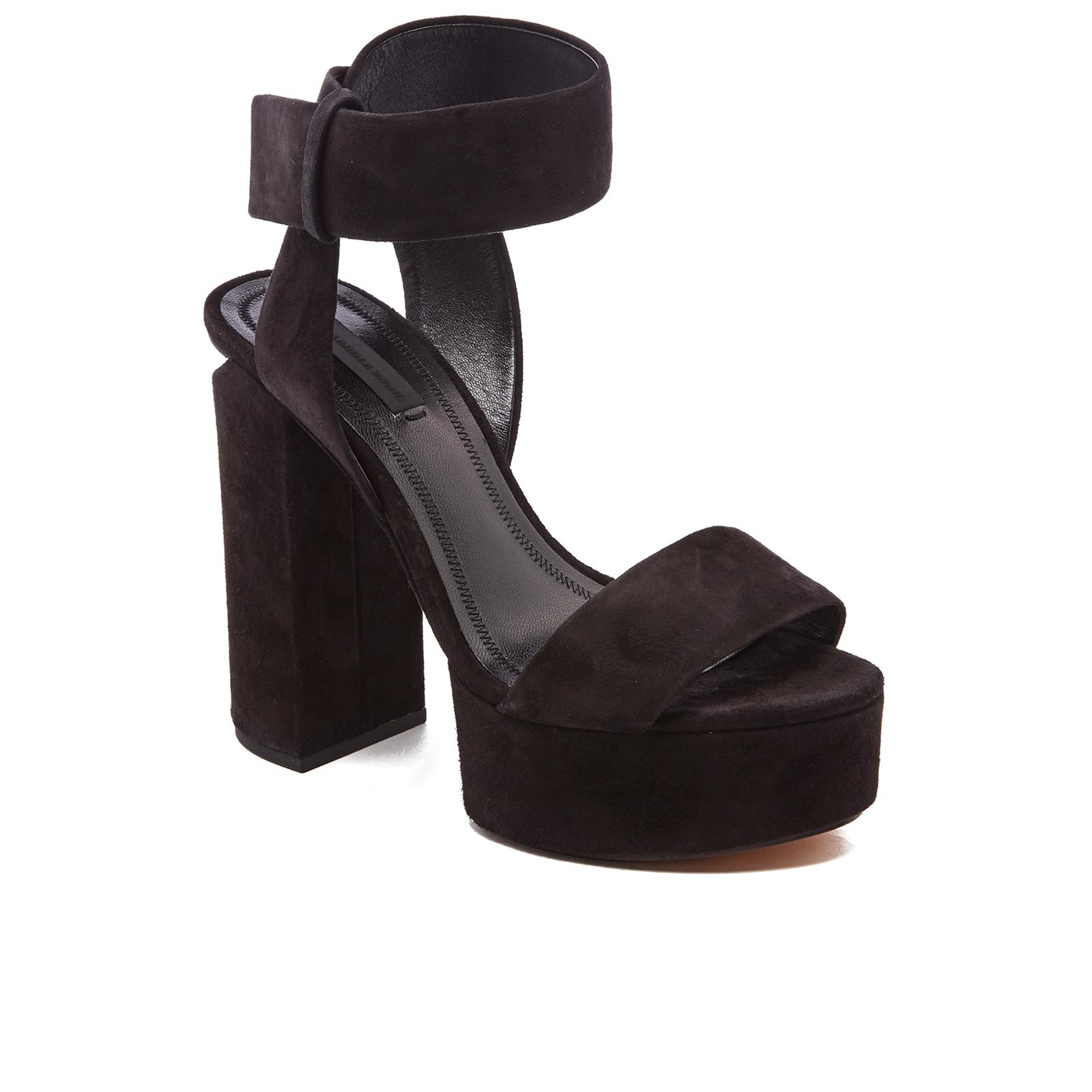 4c454e28675e Alexander Wang - Black Keke Platform Heeled Sandals - Lyst. View fullscreen