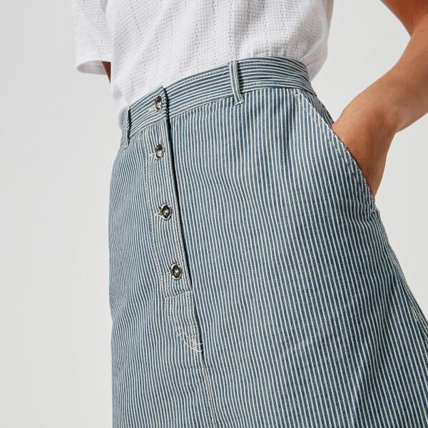 A.P.C. Cotton Women's Love Skirt in Blue