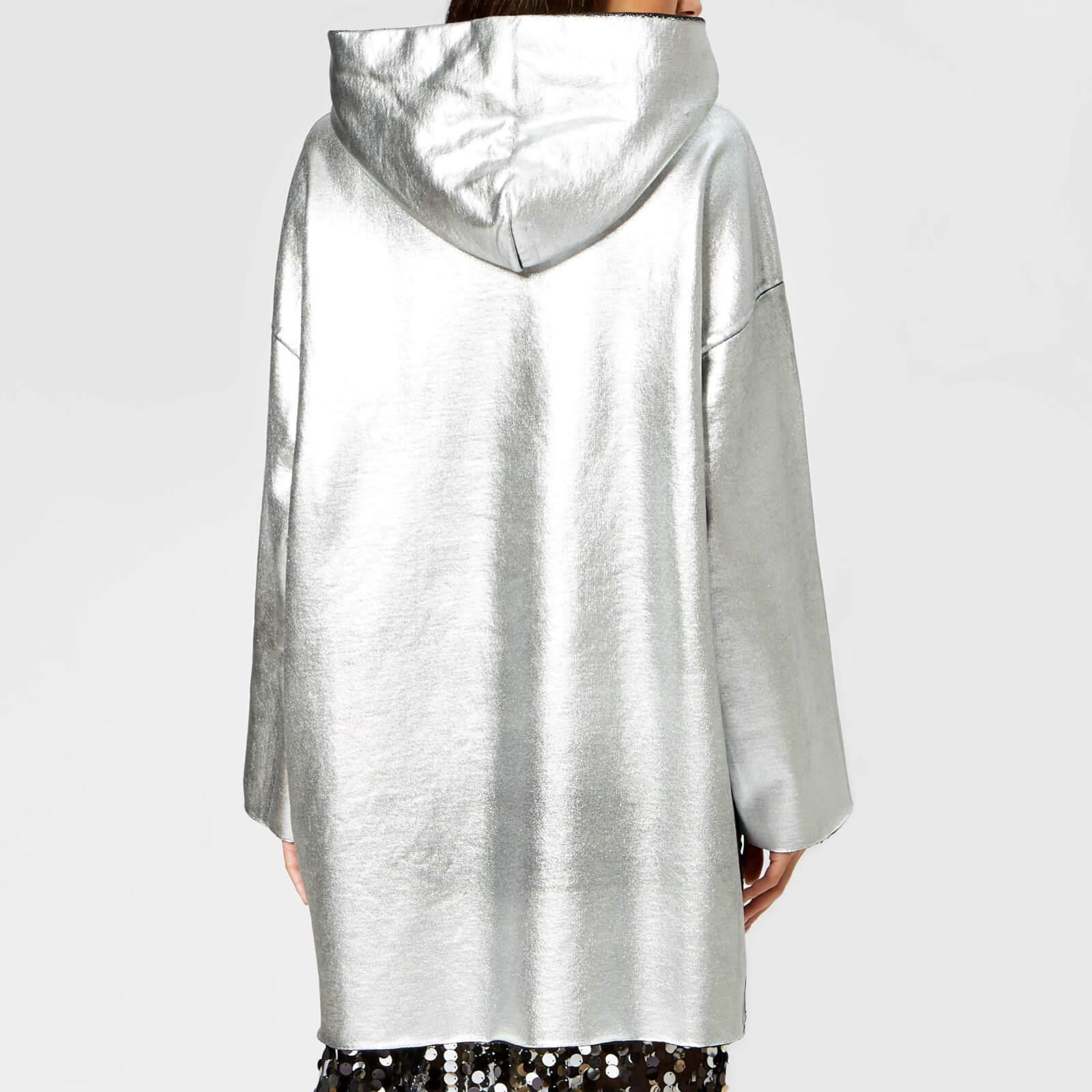 5d3268e54bb Tap to visit site. MM6 by Maison Martin Margiela - Metallic Oversized Hooded  Top - Lyst