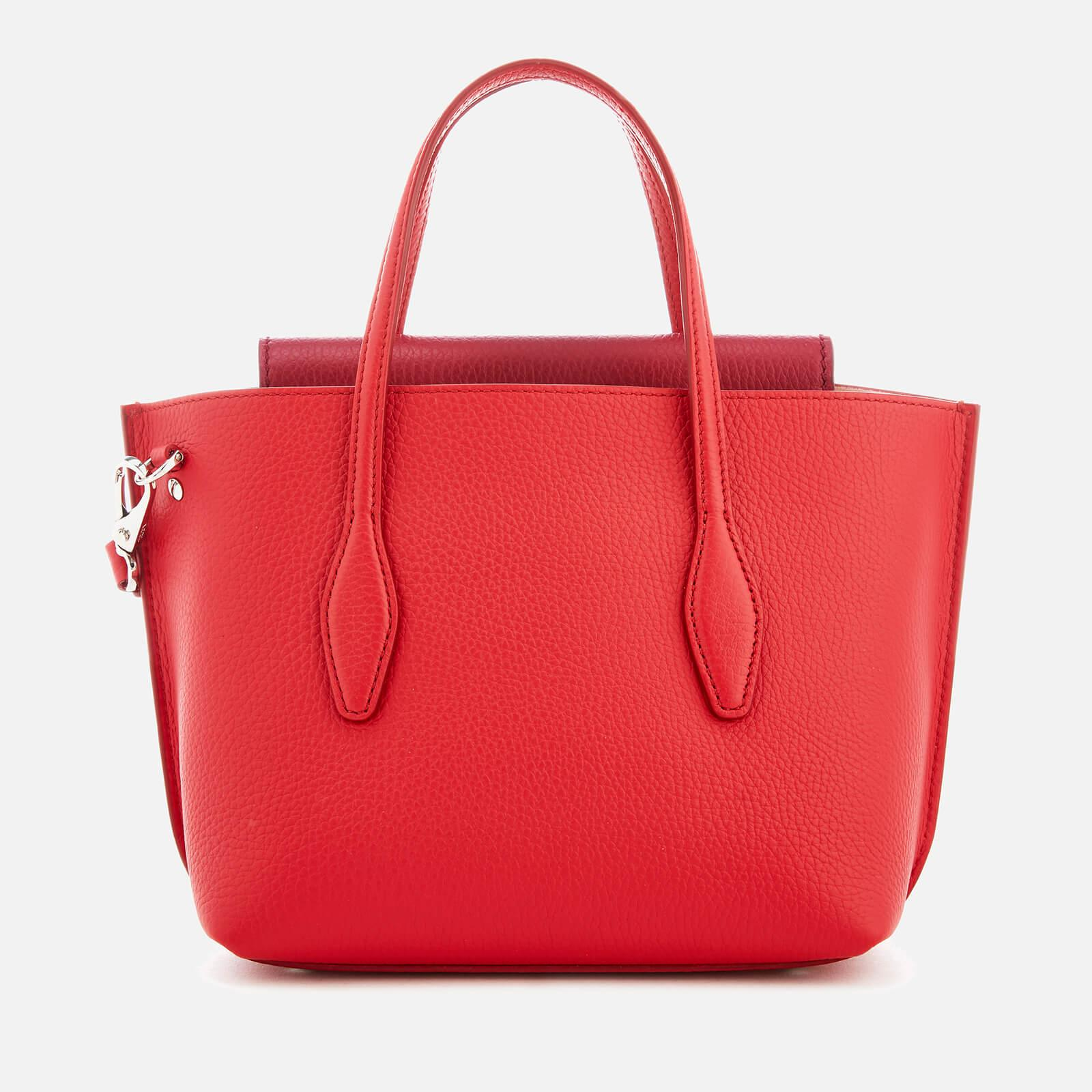 Tod's Leather Joy Tote Bag in Red