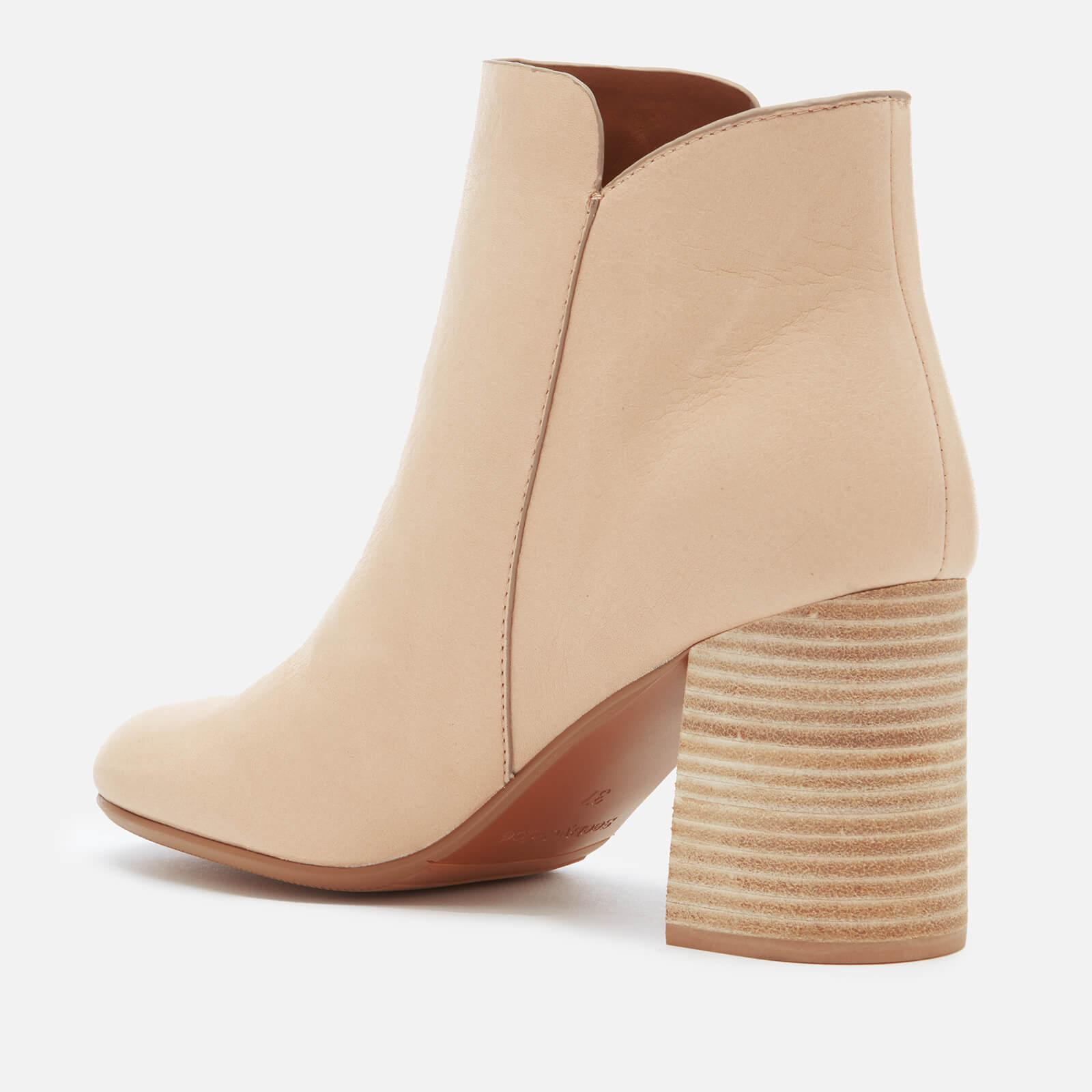 See By Chloé Suede Ring Zip Detail Heeled Ankle Boots in Beige (Natural)