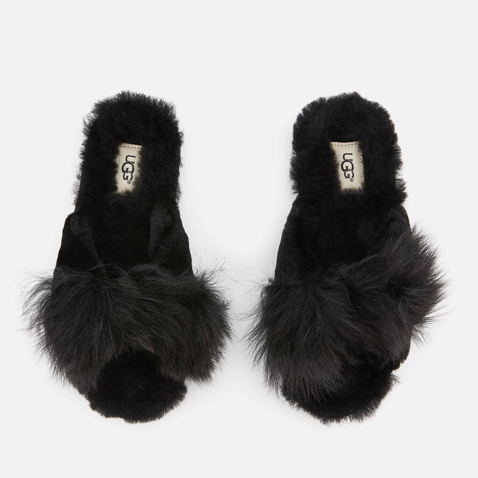 1deaf5f86ac UGG Mirabelle Sheepskin Slide Slippers in Black - Lyst