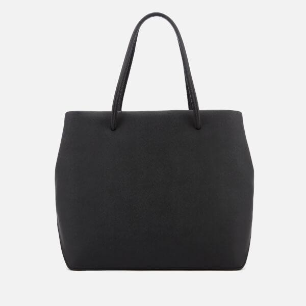 Marc Jacobs Leather Women's Logo Shopper East West Tote Bag in Black