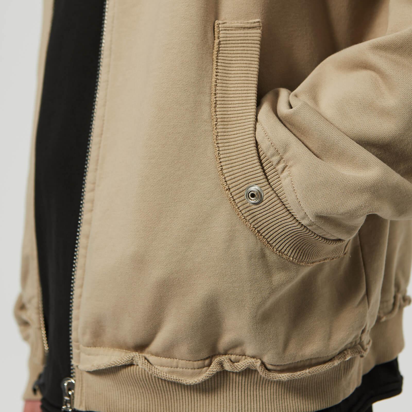 Helmut Lang Cotton Distressed Jacket in Silver (Metallic) for Men