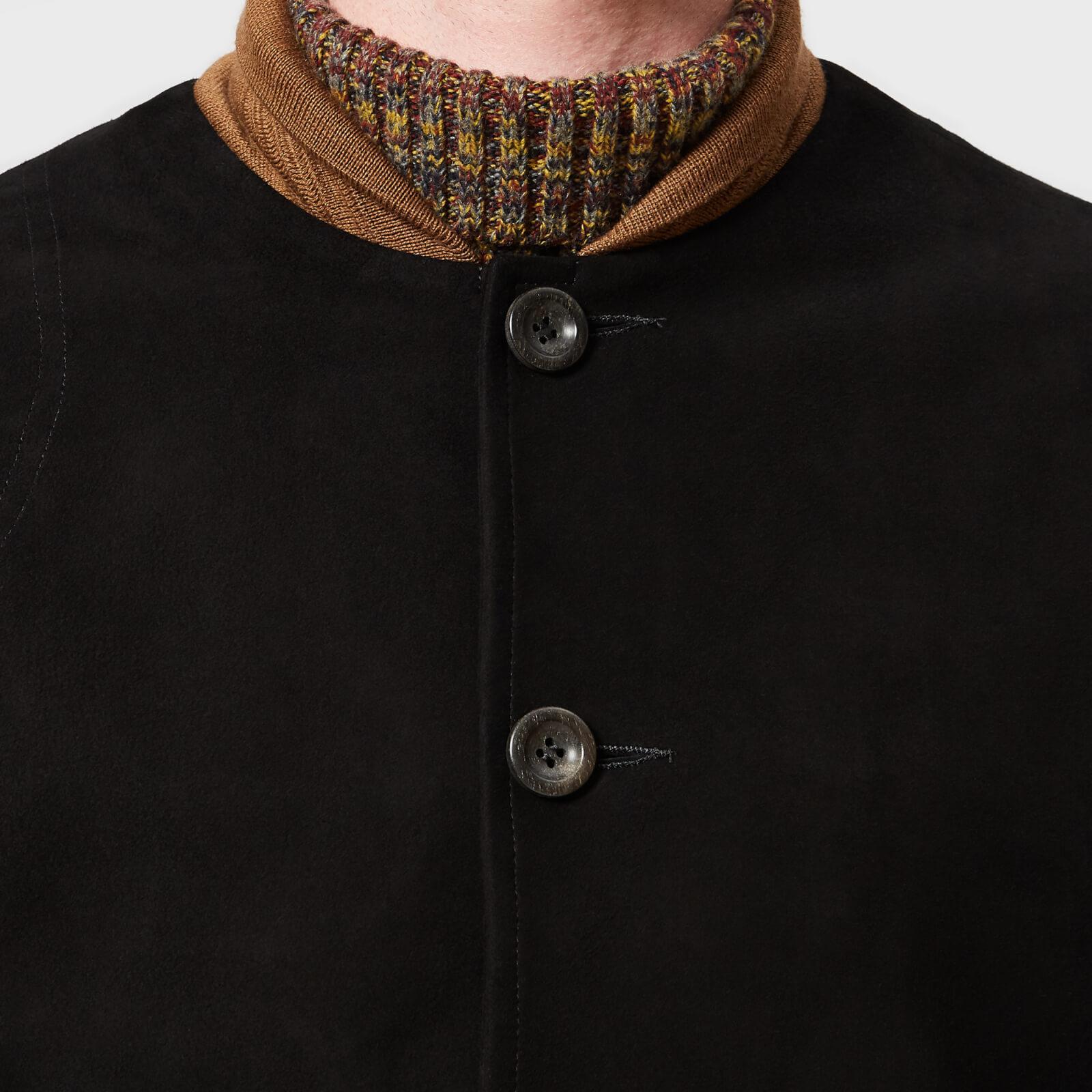 7462ca544 Oliver Spencer Gandy Suede Bomber Jacket in Black for Men - Lyst