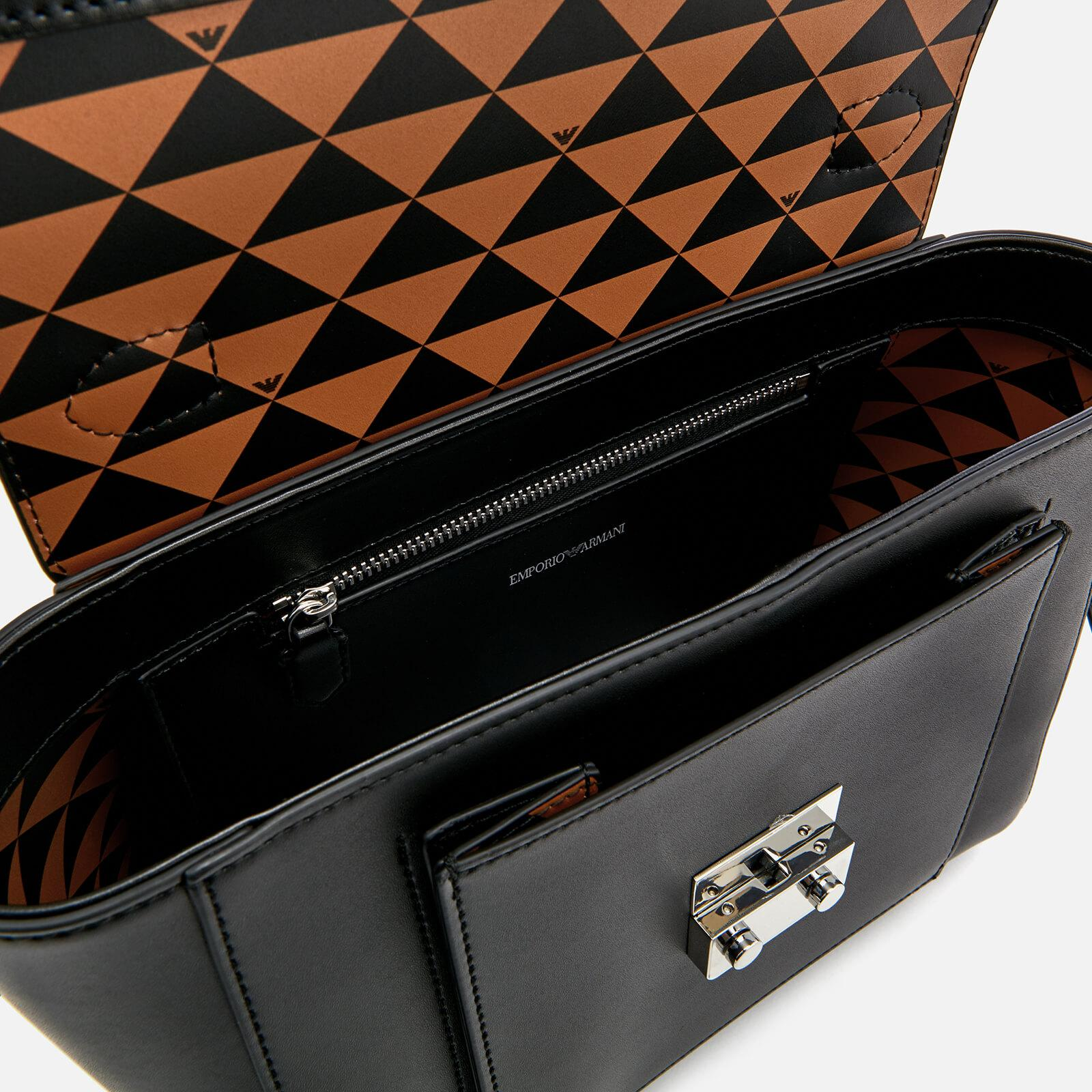 057bb6f656fa Armani Black Shiny Bag