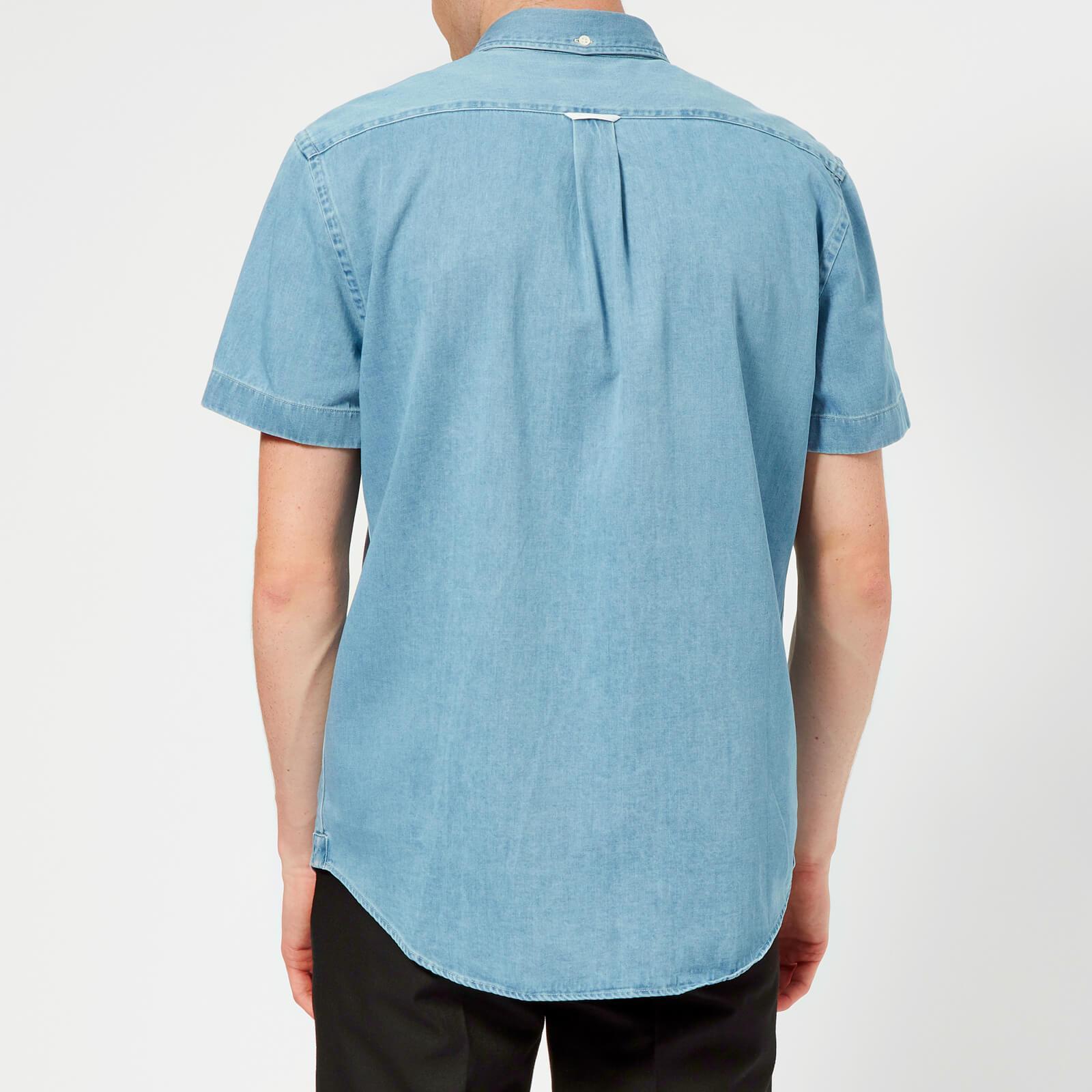 57702b208f Acne - Blue Isherwood Short Sleeve Denim Shirt for Men - Lyst. View  fullscreen
