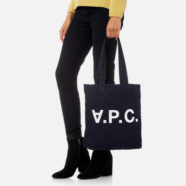 A.P.C. Denim Men's Cabas Vpc Tote Bag in Indigo (Blue)