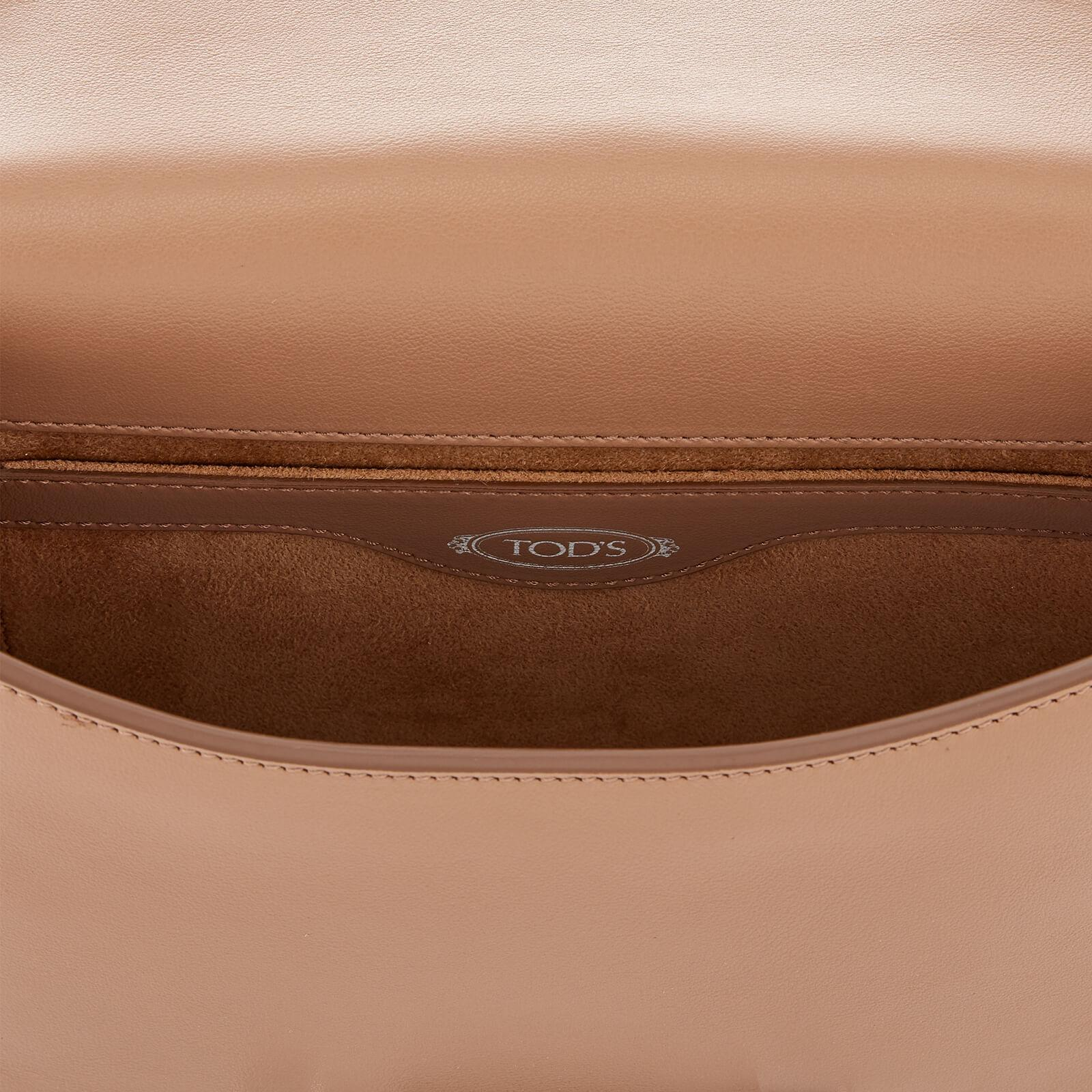 Tod's Leather Double T Cross Body Bag in Beige (Natural)