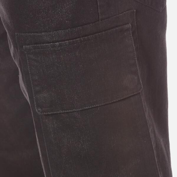 Helmut Lang Denim Men's Cropped Cargo Jeans in Black for Men