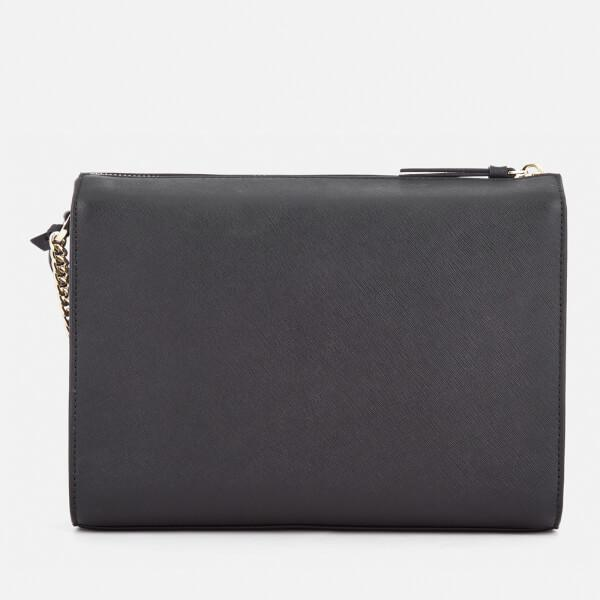 DKNY Leather Women's Bryant Park Medium Box Cross Body Bag in Black