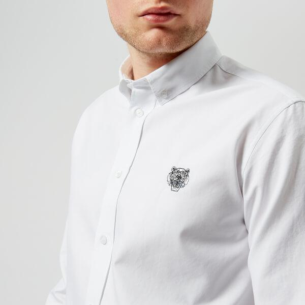 fe644031 KENZO Men's Tiger Crest Casual Fit Oxford Shirt in White for Men - Lyst