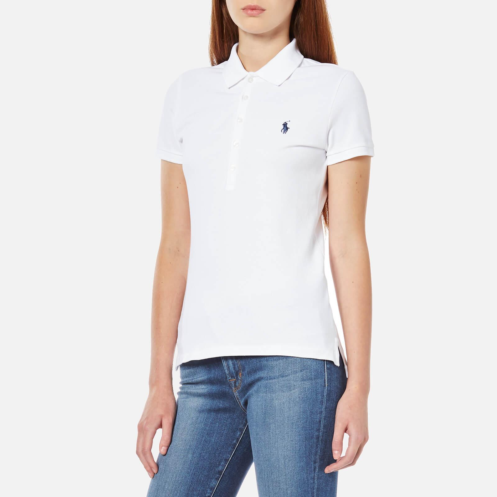 Polo Ralph Julie White Shirt Lauren 7ybfgvIY6