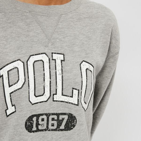 38cb8a72 Polo Ralph Lauren Cotton Women's Cropped Polo Logo Sweatshirt in ...