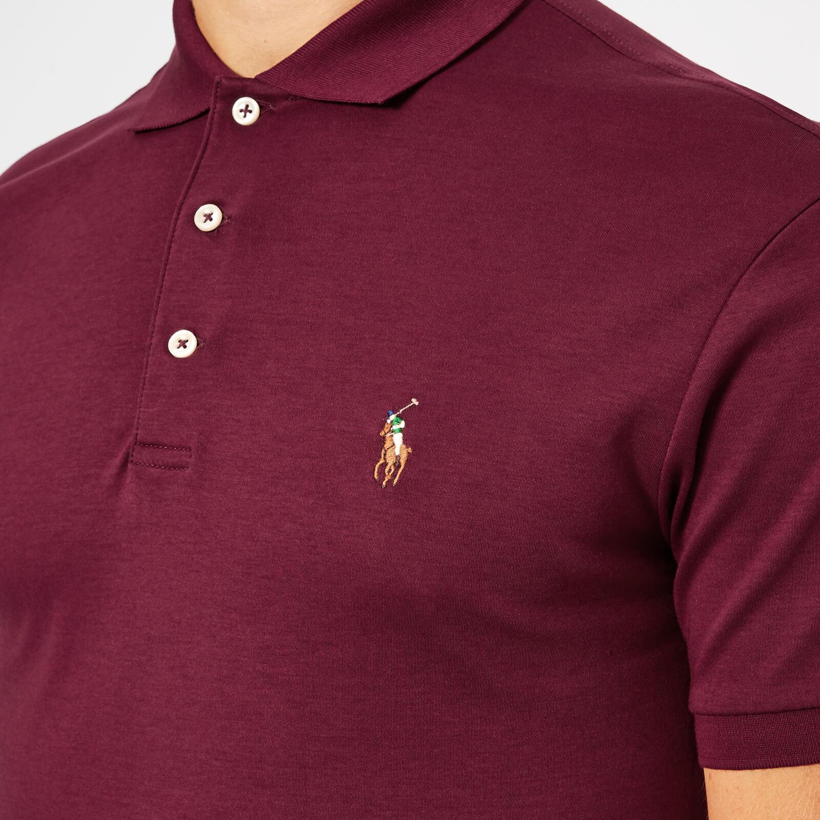 Ralph Lauren Men/'s Short Sleeve Custom Fit Logo Pique Polo Shirt $0 Free Ship