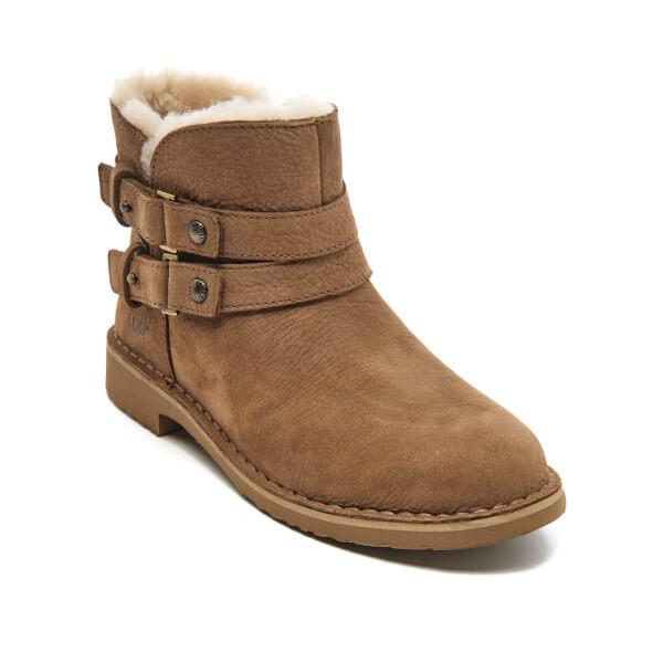 1a47ef9070f Ugg Brown Women's Aliso Double Strap Nubuck Ankle Boots