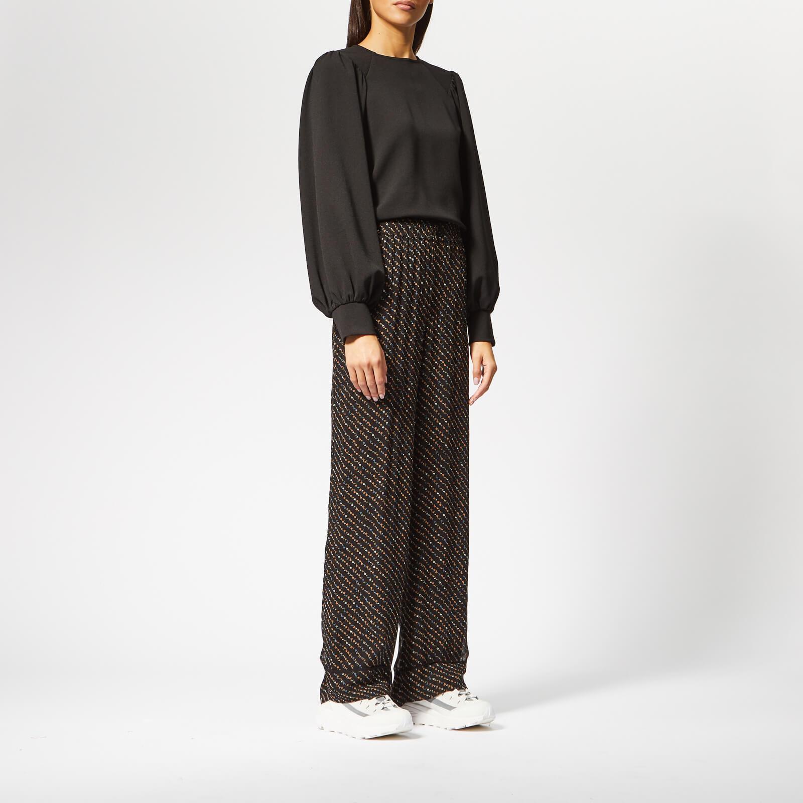57fb6f85 Ganni - Black Mullin Georgette Trousers - Lyst. View fullscreen