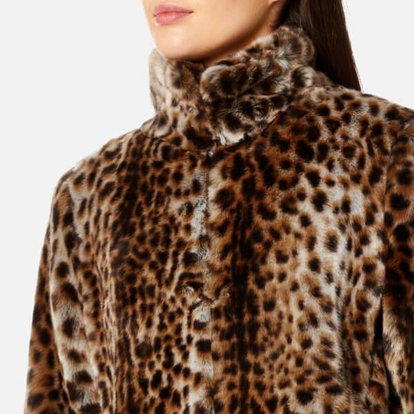 Lyst - Michael Michael Kors Women's Leopard Print Faux Fur ...